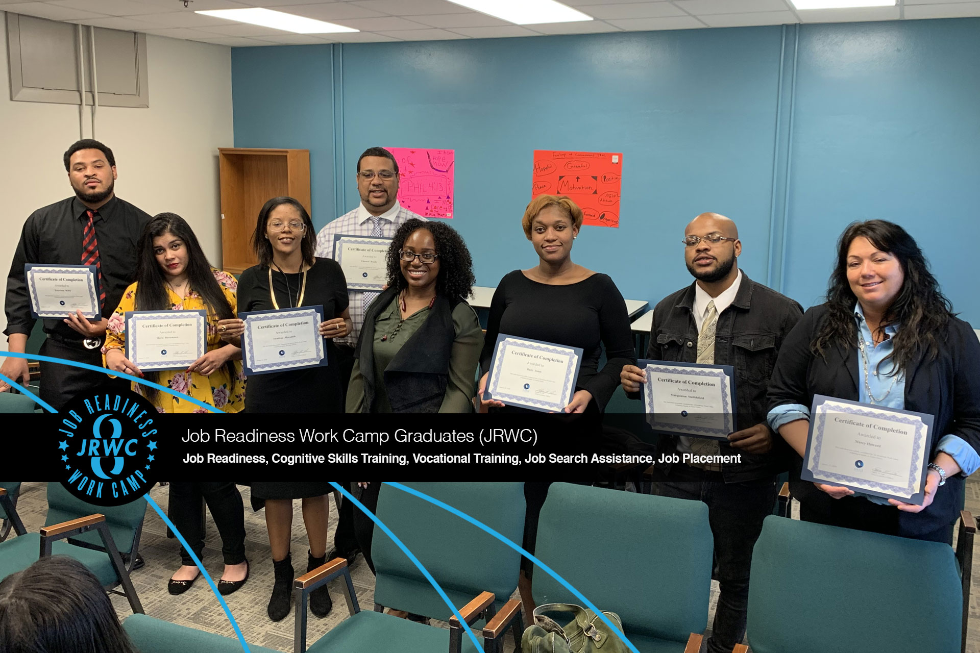 Oasis Center Job Readiness Work Camp JRWC January 2020 Graduation